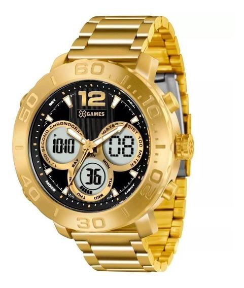 Relógio Masculino X Games Dourado Xmgsa002 P2kx Original