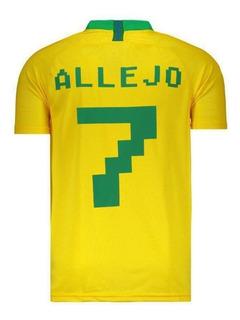 Camisa Brasil Jogador 2018 7 Allejo