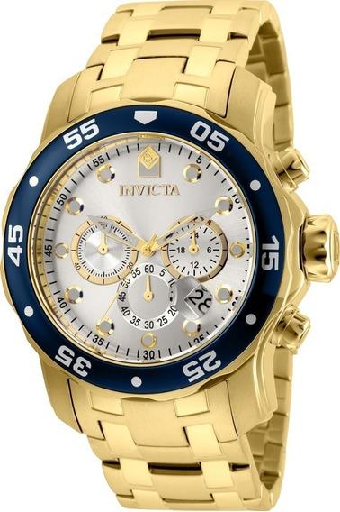 Relógio Invicta Pro Diver 80067 Vd 53 Ouro 18 K