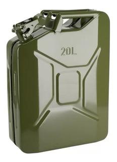 Bidon Metálico 20 Litros Combustible, Diesel, Bencina