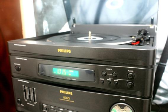 Som Philips 3x1 Toca Disco Am/fm Tape Deck (tape C/ Defeito)