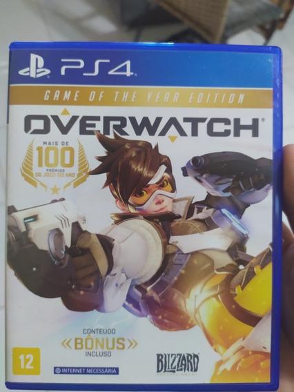Jogo Overwatch Ps4 (semi-novo,só Abri Pra Tirar Os Código)