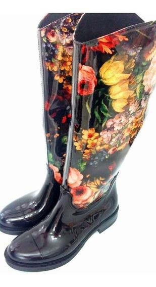 Botas De Lluvia Mujer De Diseño ! Unicas Impermeables !