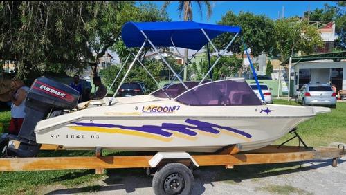 (vendo Ou Troco) Lancha Lagoon 17 Pés
