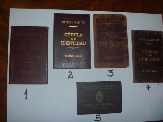 Documento Antiguo Cedula De Identidad Usadas Varias A Elegir