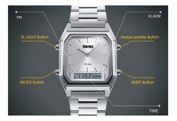 Relógio Skmei 1220 Original Dual Time -