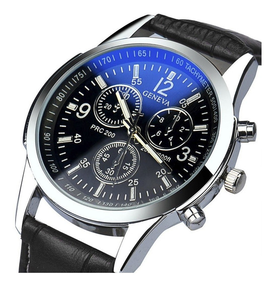Relógio Masculino Pulseira De Couro Geneva Promoção