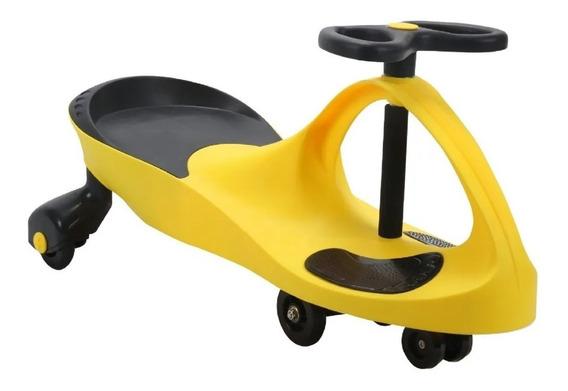 Carrinho Gira Gira Car Infantil Amarelo Certificado Inmetro
