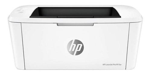 Impresora HP LaserJet Pro M15W con wifi blanca 110V