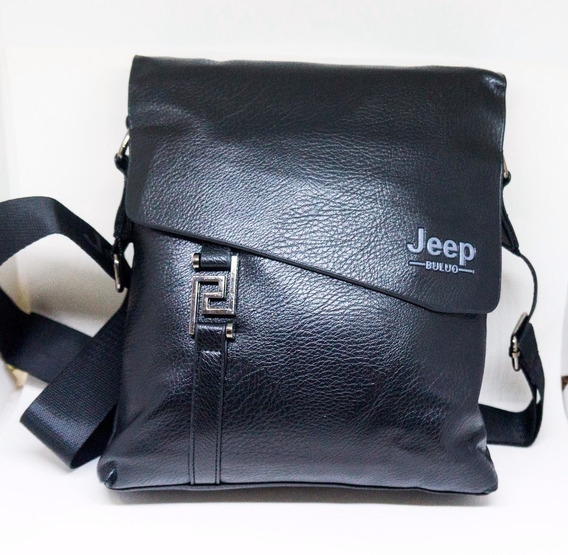 Bolsa Masculina Jeep Couro Ecologico Ombro Preta Americana