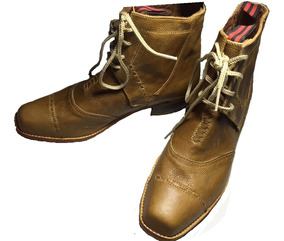 Zapato Huaso Cuero Crudo Hecho A Mano / Bauldeaperos