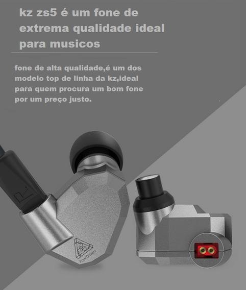 Fone Para Musicos Retorno De Palco Monitor Kz Zs5 Original