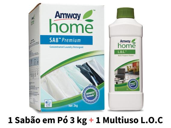 1 Sabão Em Pó Sa8 Amway Roupas + 1 Loc Amway Multiuso Casa
