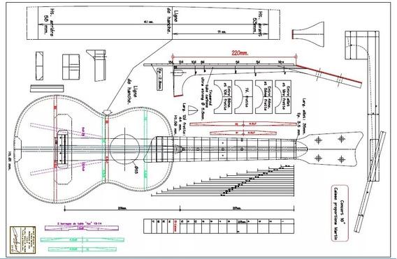 Planta Ukulele Concert Impressa Tamanho Real