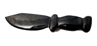 Adaga Em Obsidiana Negra 18cm