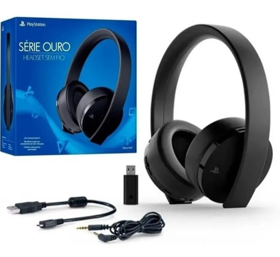 Headset Playstation New Gold 2018 Wireless 7.1 Ps4 Psvr Ps3