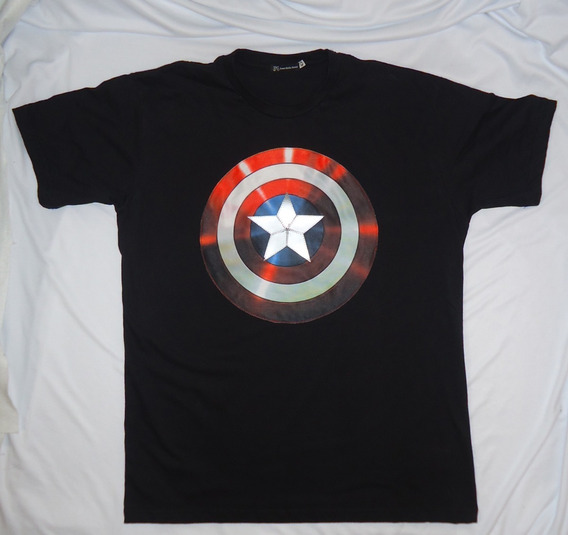 Camisa Camiseta Customizada Marvel Capitão America Captain