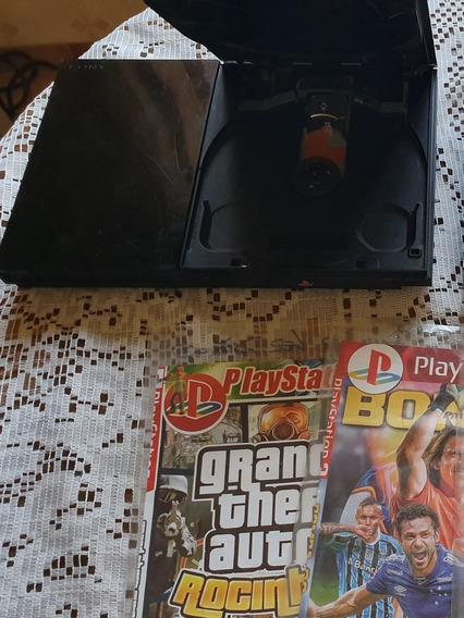 Playstation 2 ,1 Controle,5 Jogos( Acompanha Memory Card)
