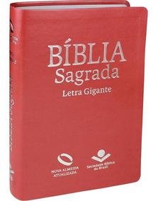 Bíblia Nova Almeida Atualizada Letra Gigante / Pêssego Luxo