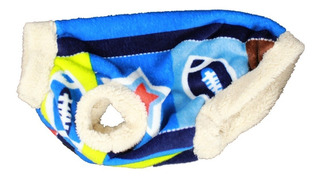 Sueter Talla 5 Abrigo Perro Mediano Extr Suave Deportes Azul
