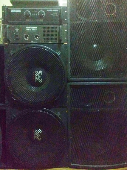 Kit Amplificadores + Caixas De Som Profissionais