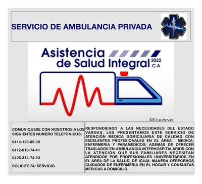Ambulancia Asistencia De Salud Integral 2022.ca