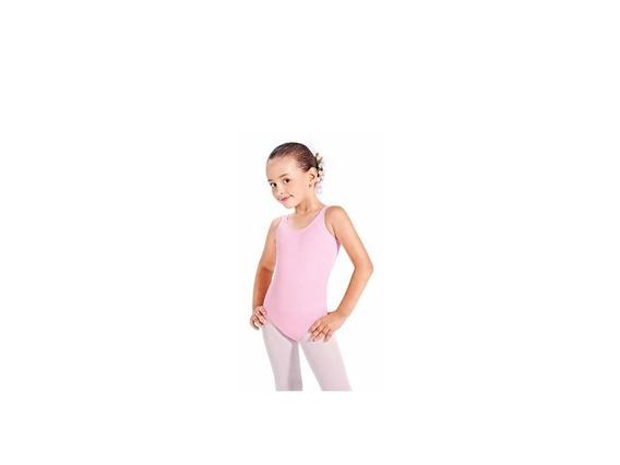 Malla Lycra Niña Sin Mangas Rosada Para Danza