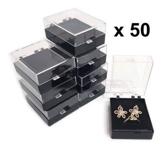 50 Cajas Plástica Para Joyería 821bn