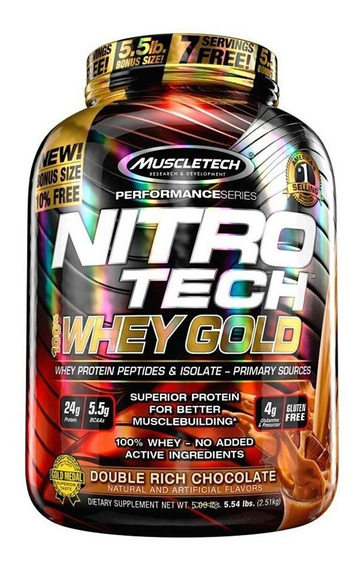 Nitro Tech Whey Gold 5,5 Lb Muscletech Proteina Gluten Free