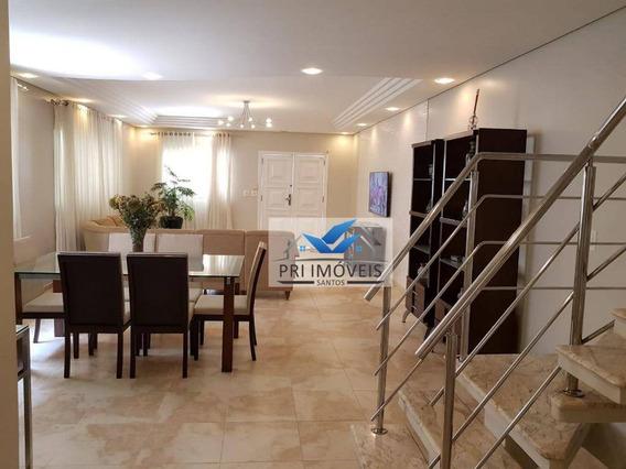 Casa À Venda, 270 M² Por R$ 1.980.000,00 - Aparecida - Santos/sp - Ca0033