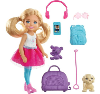 Barbie Chelsea Vamos De Viaje Con Perrito Incluye Accesorios