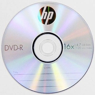 Dvd-r Marca Hewlett Packard 4.7 Gb 16x Sobre Incluido 4 Pack