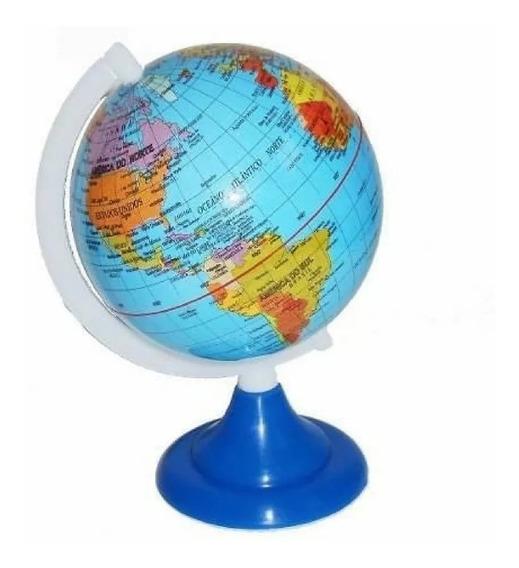 Globo Terrestre Político 8,5 Cm Diâmetro Mapa Mundo Enfeite