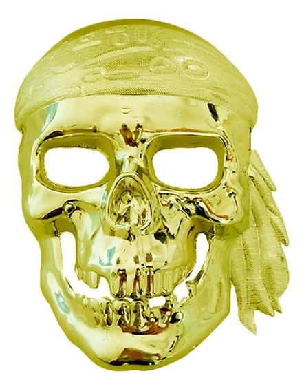 Mascara Calavera Pirata Metalizada