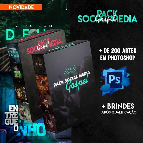 Pack Gospel Social Media + De 200 Artes Editáveis + Bônus