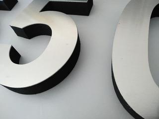 Número Residencial Aluminio 20x15 Cms