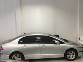 Honda Civic 1.8 Exs At 2009 Plateado