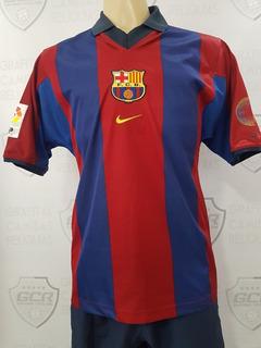 Gcr13 Camisa Oficial Barcelona 2000 #9 Kluivert P 76x50