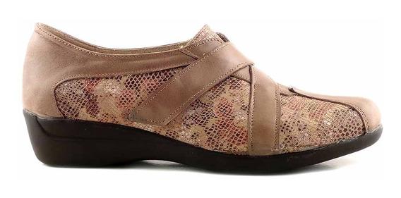 Zapato Mujer Cuero Comodo Vestir Briganti Taco - Mczp05183