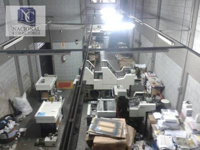 Galpão Comercial Para Venda E Locação, Bairro Jardim, Santo André - Ga0280. - Ga0280