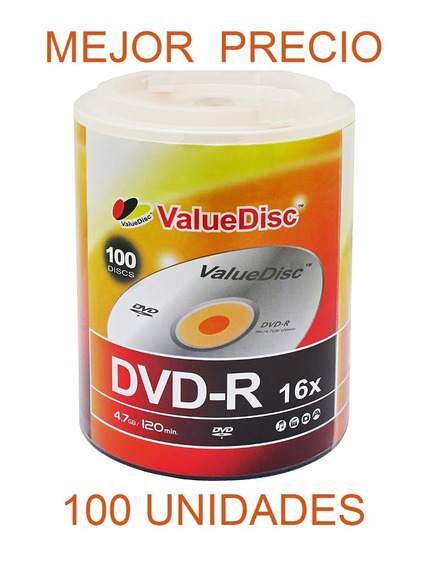 Dvd Virgen Value Disc Dvd-r 16x 4.7gb 120min