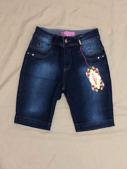 Kit 10 Shorts Jeans Pedal Stretch Top