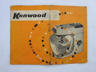 Kenwood manual de instrucción de la batidora