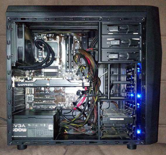 Computador Gamer Fx8350, R9 280, Hyperx 8 Gb, Ssd - Completo