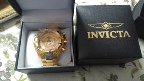 Relógio Invicta Reserve Mod 6471 Banhado A Ouro 18 K