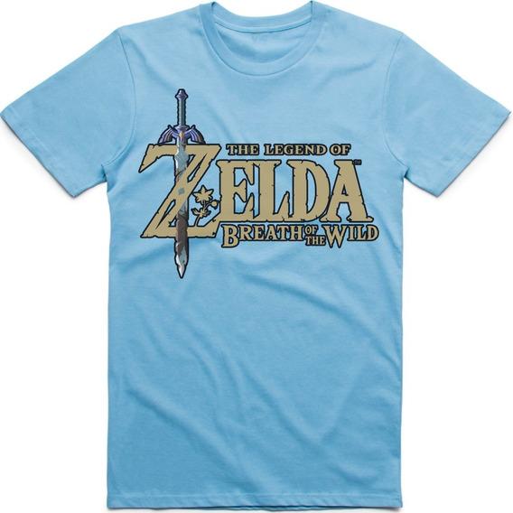 Playera Logo Zelda Breath Of The Wild (4 Colores) $220