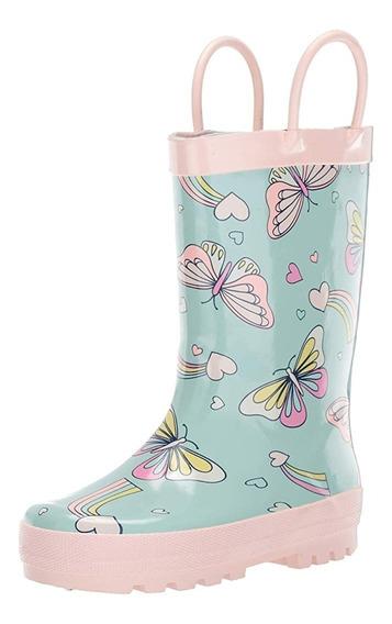 Botas De Lluvia Mariposas Para Niña Tallas 10 A 17