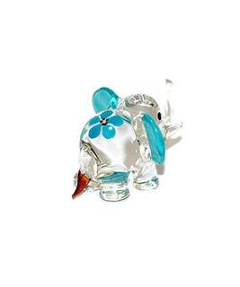 Casa De Muñecas Miniaturas Mano Soplada Arte Azul Elefant