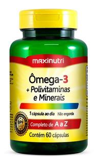 Ômega 3 + Polivitamínico & Minerais 60 Cápsulas - Maxinutri