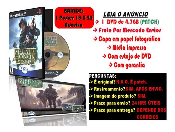 Medal Of Honor Frontline Para Ps2 + Brinde Poster Adesivo
